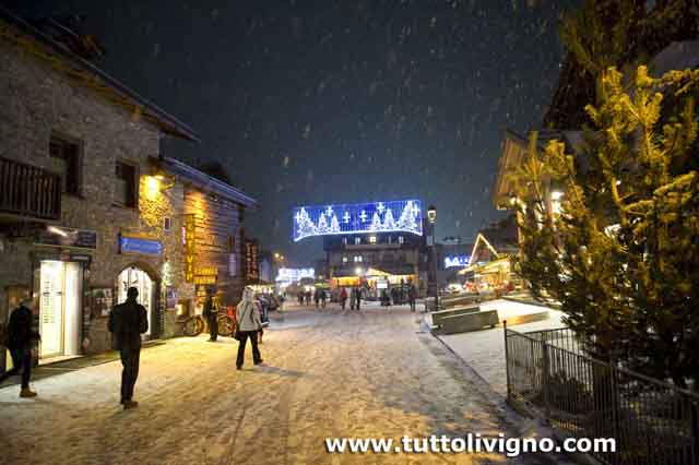 Livigno - scorcio di Via Plan in inverno